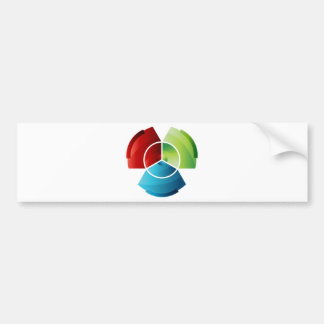Abstract Partitioned Pie Chart Bumper Sticker