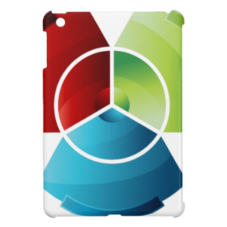 Abstract Partitioned Pie Chart iPad Mini Covers