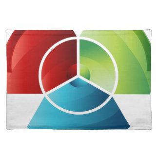 Abstract Partitioned Pie Chart Cloth Placemat