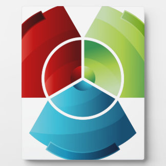 Abstract Partitioned Pie Chart Plaque