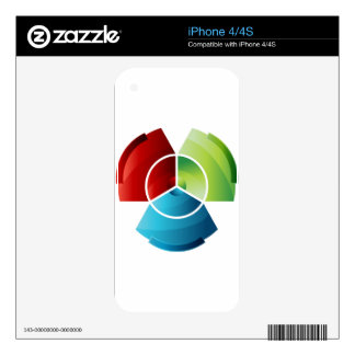 Abstract Partitioned Pie Chart iPhone 4S Decal