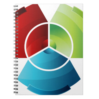 Abstract Partitioned Pie Chart Spiral Notebook