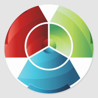 Abstract Partitioned Pie Chart Classic Round Sticker