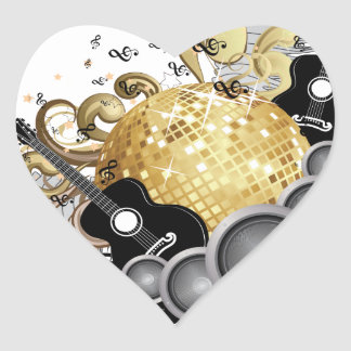 Abstract party design heart sticker