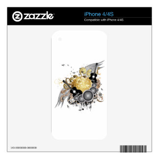 Abstract party design skin for iPhone 4