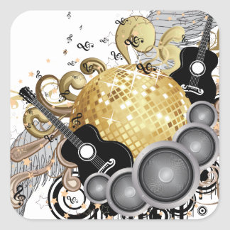 Abstract party design square sticker