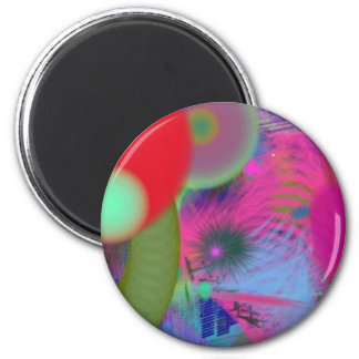 abstract party fridge magnet