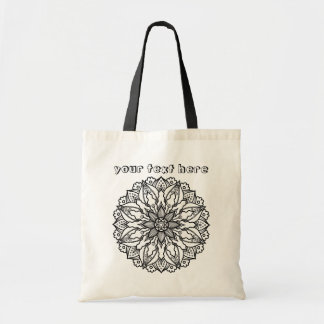 Abstract Passion Flower Mandala Color Me Tote