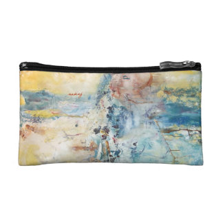 Abstract Past Bag Cosmetics Bags
