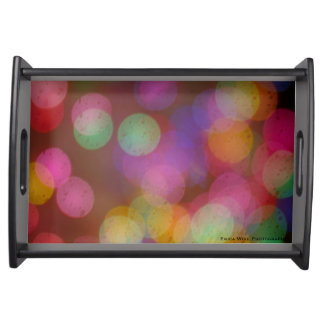 Abstract Pastel Bokeh Serving Tray