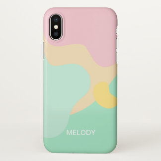 Abstract Pastel Camouflage iPhone X Case