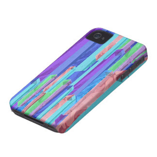 Abstract Pastel Color Bars iPhone4 Case