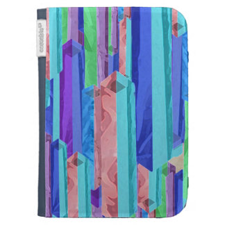 Abstract Pastel Color Bars Kindle Case