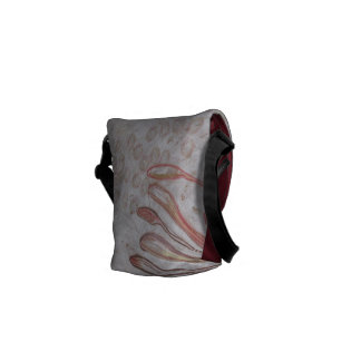 Abstract pastel drawing bag commuter bags