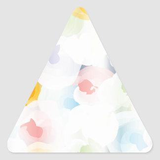 Abstract Pastel Floral Triangle Sticker