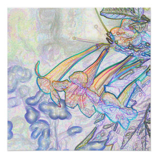Abstract Pastel Flowers Drawing Perfect Poster