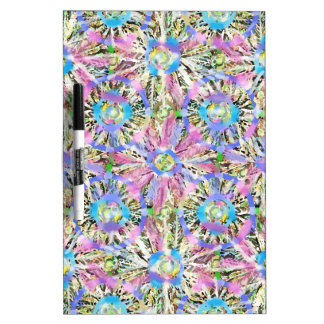 Abstract Pastel Flowers Dry-Erase Boards