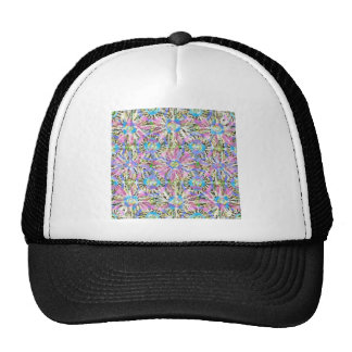 Abstract Pastel Flowers Mesh Hat
