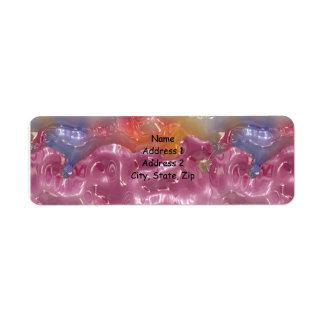 Abstract Pastel Gel Return Address Labels