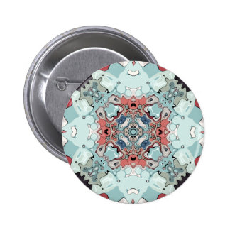 Abstract Pastel Mandala Pinback Button