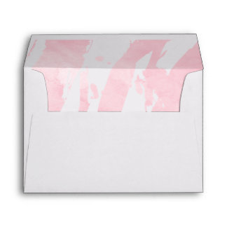 Abstract Pastel Pink Watercolor Brushstrokes Envelope