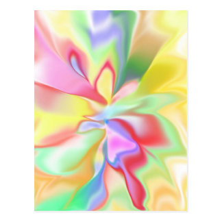 Abstract pastel postcard