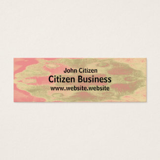 Abstract pastel stylized flower texture mini business card