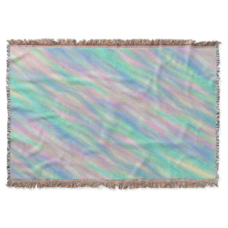 Abstract Pastel Throw Blanket