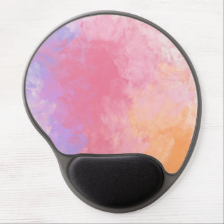 Abstract Pastel Watercolor Purple Pink Orange Gel Mouse Mats
