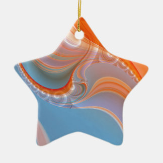 Abstract pastell created by Tutti Ceramic Ornament