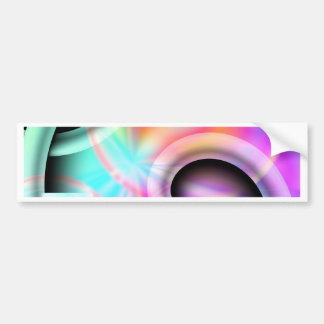 abstract pastell designed by Tutti Bumper Sticker