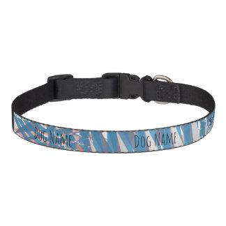 Abstract Pastels Dog Collar