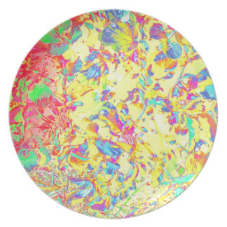 Abstract Pastels Garden Art Photo Plastic Wall Dec Party Plates