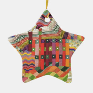 ABstract patchwork design Ceramic Ornament
