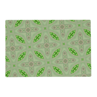 Abstract Pattern 23b green.jpg Laminated Placemat