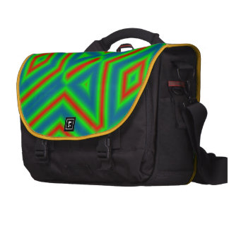 Abstract pattern 3 color bag for laptop