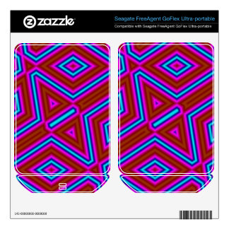Abstract pattern 3 color FreeAgent GoFlex skins