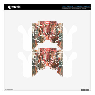 Abstract pattern art print black and red decal for PS3 controller