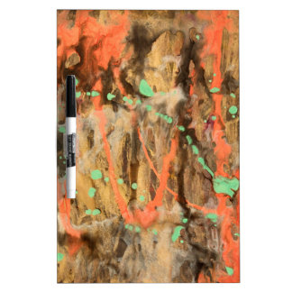 Abstract pattern art print dry erase board