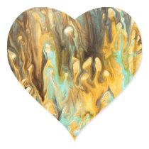 Abstract pattern art print heart sticker
