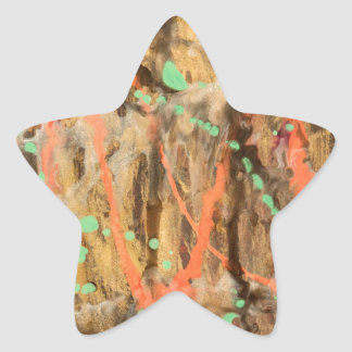 Abstract pattern art print star sticker