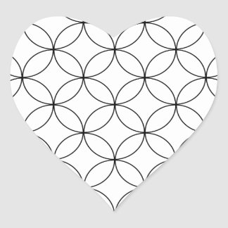 Abstract pattern - black and white. heart sticker