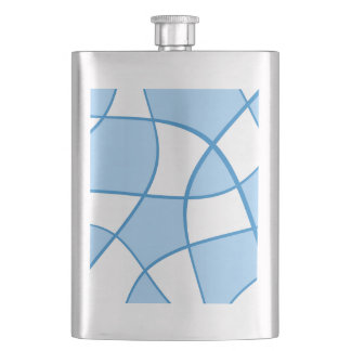 Abstract  pattern - blue and white. flask
