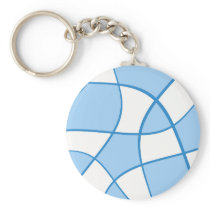 Abstract  pattern - blue and white. keychain
