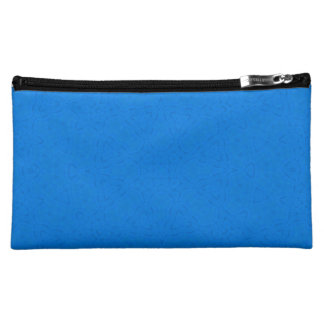 Abstract Pattern Blue Cosmetics Bags