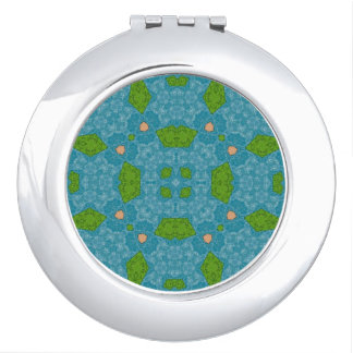 Abstract Pattern blue Mirror For Makeup