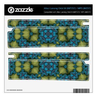 Abstract Pattern blue Decal For Orbit M Speaker