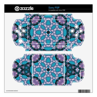 Abstract Pattern Blue PSP Skin