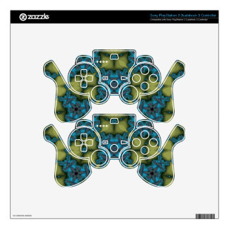 Abstract Pattern blue PS3 Controller Skins