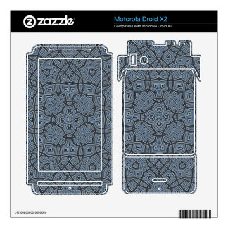 Abstract Pattern Blue Motorola Droid X2 Decal
